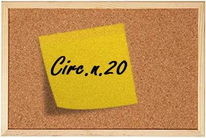 circolare numero 20